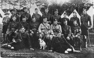 15. Gordon Highlanders, Uncle Tom 5th from left, upper row, undated
